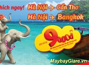 VietJet mở chương trình siêu khuyến mãi Hà Nội – Cần Thơ & Hà Nội – Bangkok giá chỉ từ 9.000 đồng VietJet khuyến mãi Hà Nội – Cần Thơ – Bangkok giá chỉ từ 9.000 đồng