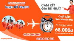Đại lý vé máy bay giá rẻ tại huyện Bố Trạch của Jetstar bán vé rẻ nhất thị trường Đại lý vé máy bay giá rẻ tại huyện Bố Trạch của Jetstar