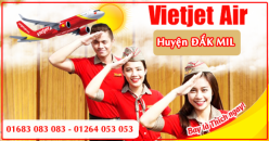 Đại lý vé máy bay giá rẻ tại huyện Đắk Mil của Vietjet Air bán vé rẻ nhất thị trường Đại lý vé máy bay giá rẻ tại huyện Đắk Mil của Vietjet Air