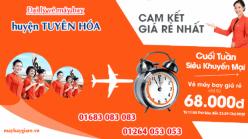 Đại lý vé máy bay giá rẻ tại huyện Tuyên Hóa của Jetstar bán vé rẻ nhất thị trường Đại lý vé máy bay giá rẻ tại huyện Tuyên Hóa của Jetstar