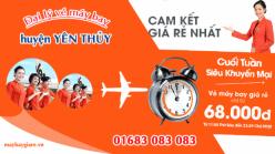 Đại lý vé máy bay giá rẻ tại huyện Yên Thủy của Jetstar bán vé rẻ nhất thị trường Đại lý vé máy bay giá rẻ tại huyện Yên Thủy của Jetstar