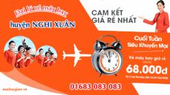 Đại lý vé máy bay giá rẻ tại huyện Nghi Xuân của Jetstar bán vé rẻ nhất thị trường Đại lý vé máy bay giá rẻ tại huyện Nghi Xuân của Jetstar