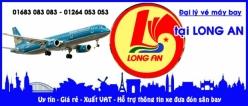 Đại lý vé máy bay giá rẻ tại Long An