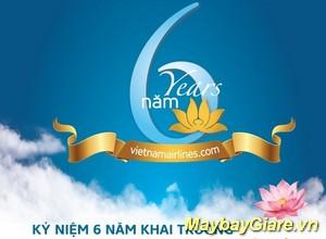 Vietnam Airlines giảm giá vé mừng sinh nhật 6 năm website để tri ân khách hàng đã đồng hành trong thời gian qua. Vietnam Airlines giảm giá vé mừng sinh nhật 6 năm website