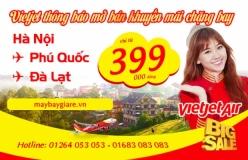 Vé máy bay giá rẻ Hà Nội Đà Lạt của Vietjet Air chỉ từ 390k Vé máy bay giá rẻ Hà Nội Đà Lạt của Vietjet Air