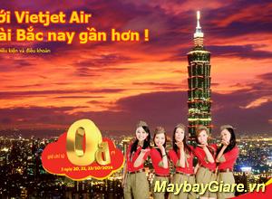 VietJet khuyến mãi vé máy bay đi Đài Bắc giá chỉ từ 210k