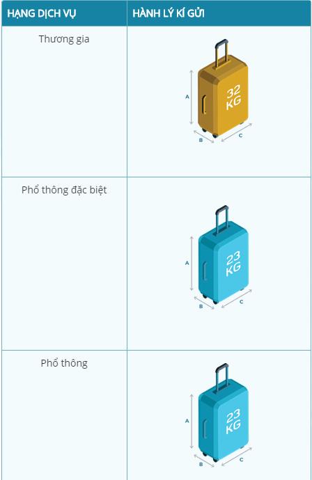 Tiêu chuẩn hành lý ký gửi của Vietnam Airlines