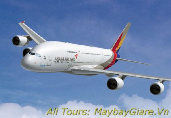 Đặt mua vé máy bay Asiana Airlines giá rẻ nhất tại MaybayGiare Vé máy bay Asiana Airlines