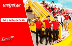 Đại lý vé máy bay giá rẻ tại huyện Ea Súp của Vietjet Air