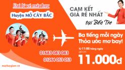 Đại lý vé máy bay giá rẻ tại huyện Mỏ Cày Bắc của Jetstar bán vé rẻ nhất thị trường Đại lý vé máy bay giá rẻ tại huyện Mỏ Cày Bắc của Jetstar