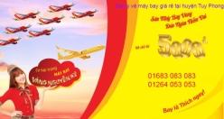 Đại lý vé máy bay giá rẻ tại huyện Tuy Phong của Vietjet Air