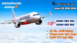 Đại lý vé máy bay giá rẻ tại huyện Gò Công Đông của Jetstar