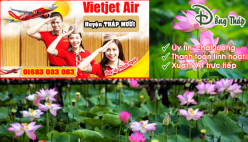 Đại lý vé máy bay giá rẻ tại huyện Tháp Mười của Vietjet Air bán vé rẻ nhất thị trường Đại lý vé máy bay giá rẻ tại huyện Tháp Mười của Vietjet Air