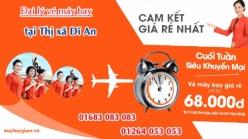 Đại lý vé máy bay giá rẻ tại Thị xã Dĩ An của Jetstar