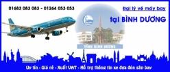 Đại lý vé máy bay giá rẻ tại Bình Dương