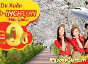 VietJet khuyến mãi vé máy bay 0 đồng Hà Nội – Hàn Quốc.
