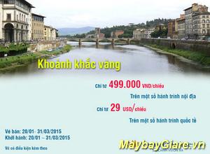 Vietnam Airlines bán vé máy bay giá chỉ từ 499K.