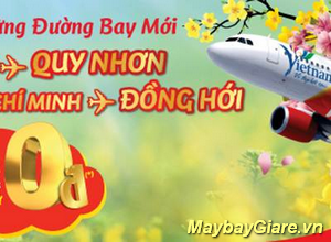 VietJet bán vé máy bay Hà Nội – Quy Nhơn & Tp.HCM – Đồng Hới giá chỉ từ 0 đồng.