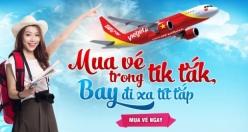 Vé máy bay giá rẻ Sài Gòn Đà Nẵng của Vietjet Air