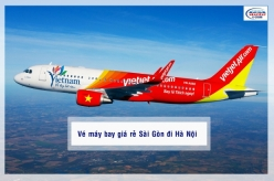 Vé máy bay giá rẻ Sài Gòn đi Hà Nội của Vietjetair