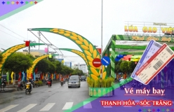 Đặt vé máy bay giá rẻ Thanh Hóa đi Sóc Trăng Vé máy bay giá rẻ Thanh Hóa đi Sóc Trăng
