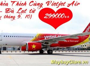 Vé máy bay Vinh đi Đà Lạt giá rẻ nhất, khuyến mãi hấp dẫn mỗi ngày Vé máy bay Vinh đi Đà Lạt